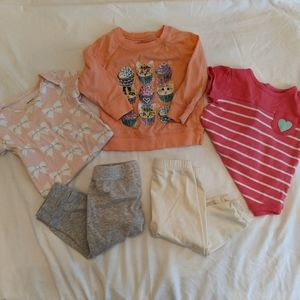 onesie and pants mix and match outfits 6 months